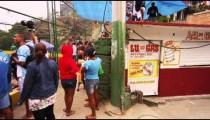 RIO DE JANEIRO, BRAZIL - JUNE 23: Slow pan of soccer audience, June 23, 2013 in Rio, Brazil