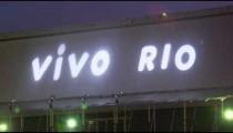 Shot of vivo rio sign on a building in Rio de Janeiro, Brazil