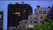 Shot of buildings at night in Rio de Janeiro, Brazil