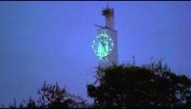 Shot of a clock tower at night in Rio de Janeiro, Brazil