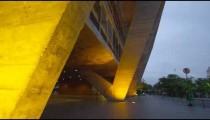 Tilting shot of a building in the city in Rio de Janeiro, Brazil