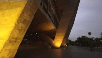 Tilt shot of a building in the city in Rio de Janeiro, Brazil