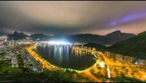Time lapse overlooking the bay of Rio de Janeiro Brazil