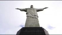 Low-angle shot of Rio's Christ the Redeemer statue