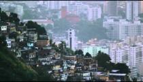 Aerial pan of an industrial urban area in Rio de Janeiro
