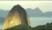 Shot of Sugarloaf mountain in Rio de Janeiro with morning sky