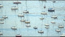 Moored boats in Guanabara Bay