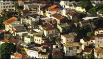 Static shot of rooftops in a favela in Rio De janeiro