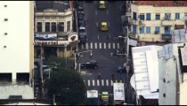 High-angle footage of busy Rio de Janeiro intersection