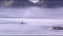 Submarine moving through Guanabara Bay