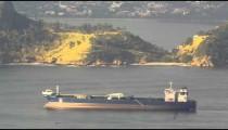 Barge moving across Guanabara Bay