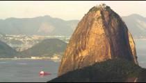 Pan of Guanabara Bay landmarks