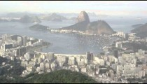 Panorama of Rio de Janeiro from lookout