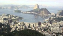 Pan of Rio from Corcovado lookout point