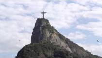 Still footage of Christ statue