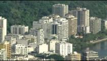Bird's eye tilt of Rio de Janeiro