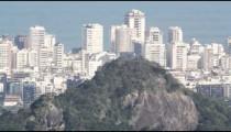 Pan of Rio de Janeiro from above