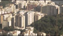 Tilting shot of Rio de Janeiro from lookout