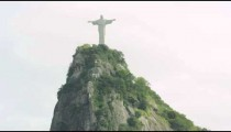 Tilting shot of Corcovado and Christ statue
