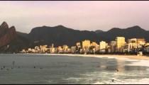 Morning surfing at Ipanema beach
