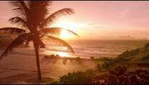 Empty Ipanema beach at sunset