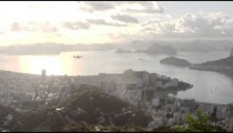 Plane over Rio de Janeiro, Brazil.
