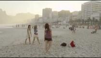 RIO DE JANEIRO-JUNE 16: A woman is photographed on the beach on June 16, 2013 in Rio de Janeiro.