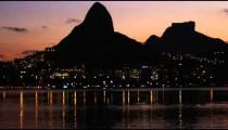 Dusk pan of Rio de Janeiro