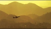 Plane ascending above Rio de Janeiro