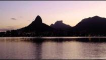 People kayaking at sunset.