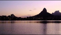 Loagoa Rodrigo Freitas at dusk.