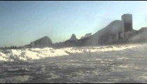 Static footage of the Atlantic ocean and Copacabana.
