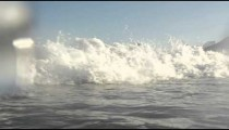 Wet ocean wave shot.