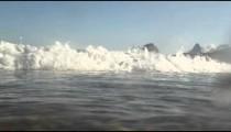 An ocean wave off the coast of Copacabana - Rio de Janeiro, Brazil.