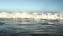 Static footage of a wave in the Atlantic Ocean - Rio de Janeiro, Brazil.
