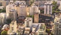 Summer in the city tilt shot of Rio de Janeiro's architecture.