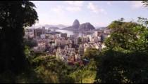 Ultra sharpened, tracking footage of Rio de Janeiro.