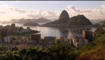 Static footage of Rio de Janeiro, Guanabara Bay, and Sugarloaf.