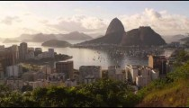 Afternoon footage of Rio de Janeiro and Guanabara Bay.
