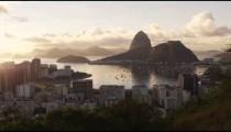 Daylight shot of Sugar Loaf, Rio, and Botafogo Bay.