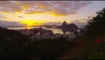 Sunset shot over Botafogo Bay.