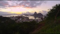 Tracking footage from Tijuca National Park of Rio de Janeiro, Sugarloaf, and Botafogo Bay.