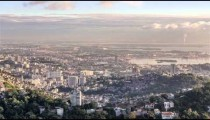 Time-lapse city view of Rio de Janeiro, Brazil.
