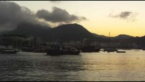Pan Time-lapse of Guanabara Bay in Rio with day to night.