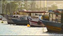 Static shot of fishing boats in Rio.