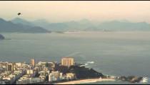 An aerial view of Guanabara Bay in Rio de Janeiro.