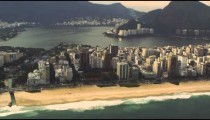 An aerial view of Rio de Janeiro's beaches.