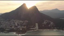 Footage of Rio's Guanabara Bay with the skyline and mountains beyond.