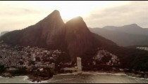 Footage of Guanabara Bay with Rio'skyline and mountains beyond.