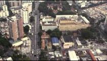 Slow Motion Aerial shot of Rio de Janiero's commercial district
